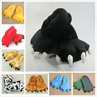 Unisex Big Feet Foot Bear Pajamas Cosplay Animal Claw Shoes Slipper Paw Indoor