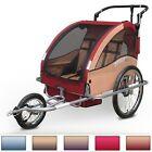 Bicycle Trailer Bike Stroller Jogger Double Kids Child Seat Buggy Choice Colour