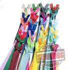 "Wholesale 10""/ 25cm. Assorted Mixed Colors Closed End Invisible Hidden Zippers"