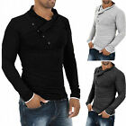 Men's Stylish Tops Slim Fit Casual T-shirts Polo Shirt Long Sleeve Tee Top Hot