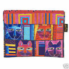 Laurel Burch Ipad Canvas Cover Case Patchwork Cat Faces Padded Magnetic Case New