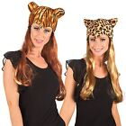 Ladies Cat Wig Tiger Leopard Cheetah Hat Headdress Ears Theatrical Musical Cats