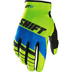 NEW SHIFT RACING MENS GUYS ADULT MX SX ATV RIDING YELLOW BLUE ASSAULT GLOVES
