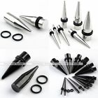 Gothic Stainless Steel Rivet Spike Taper Ear Plugs Expander Stretcher 2-10mm