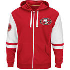 NEW Mens MAJESTIC San Francisco 49ers Faithful NFL 1946 Red Pace Zip Up Hoodie
