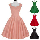 NEW Ladies 50's Vintage Evening Party Cocktail Tea Dress Swing Skater