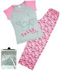 Womens Official Tatty Teddy Me to You Hearts Gift Pack Pyjamas Plus Sizes 8 - 22