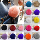 Soft Furry Rabbit Fur Keychain Fluffy Charm Bag Phone Key Chain Ball Pom Pendant