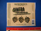 Beer Label Sticker ~ KNEE DEEP Brewing Simtra Triple India Pale Ale ~ CALIFORNIA