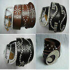 Clear Crystal Black Brown Color High Quality Genuine Leather Belt 4 choice