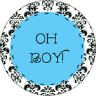 Oh Boy Baby Shower Birthday Edible Image Cupcake Cake Frosting Sheet