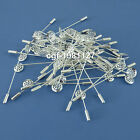 Lapel Pin Hardware Metal 12mm Shower Head 50mm Long Setting Brooches Boutonniere