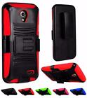 For ZTE Stratos Allstar LTE Z818L Rugged Side Stand Holster Cover Case
