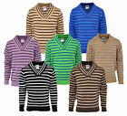 Boys X Over V Neck Striped Jumper Springweight Fashion Top 2 to 10 Years