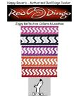 RED DINGO Reflective Daily Dog Collars & Leash - Pick Size/Color Chevron ZIGGY
