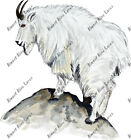 Mountain Alpine White Wild Goat Car Truck Camper Window Vinyl Decal Sticker Art