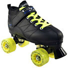 Black Pacer Mach 5 GTX-500 Quad Speed Roller Skates with Yellow Light Up Wheels