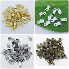 200 Pcs Metal Double Caps End Crimps beads tips 4x6mm Findings Pick Color P106