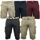 Mens Chino Cargo Combat Knee Length Shorts By Brave Soul