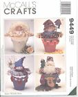 Mccall's 9449 Flower Pot People  Craft Sewing Pattern