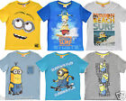 MINIONS OFFICIAL SHORT SLEEVE SUMMER T SHIRTS/TOPS 5 6 7 8 9 10 11 12 YEARS