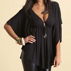 Fashion Women Summer Loose Sexy Vest Tee Shirt Tops Blouse Ladies Top Size 6-16