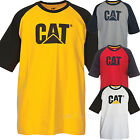 Caterpillar T shirt Mens Short Sleeve Trademark Raglan Logo Tee T Shirts Cotton image