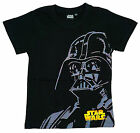 Boys Official Star Wars Darth Vader Face Print T-Shirt Black 6 to 12 Years