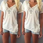 Sexy Women Fashion Summer Vest Top Short Sleeve Blouse Casual Tank Tops T-Shirt