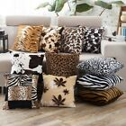 New Leopard Pattern Faux Fur Decorative Sofa Throw Pillow Co