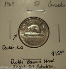 Elizabeth II 1964 Rotated Die; Dbld Bvr's Head & KG Five Cents