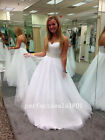 New White/ivory Beading A-Line Wedding Dress Bridal Gown Size2+4+6+8+10+12+16+++