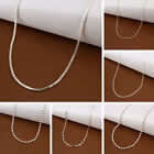 Womens Pendant Chain Necklace 16-24in Silver Plated Jewelry Accessories Hot B9
