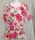 Ladies Size Petite Medium & Extra Large Top Magenta Rose PM PXL Bandolino New