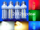 E27 LED bulb 48-5050 SMD Lamp white/warm whte/Red/Green/Blue 110V/220V with cove