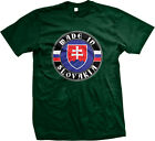 Made In Slovakia Crest Slovakian Pride World Cup Mens T-shirt