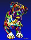 Made in USA Multi-Color Boxer Dog Breed Matted Print Wall Decor