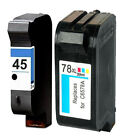 Non-OEM Replaces 45 & 78 Use For HP Photosmart P1000 P1000xi Ink Cartridges