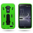 For LG G Flex Case - Rugged Dual Layer Shock Proof Hybrid Kickstand Cover Phone