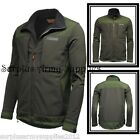 MENS SOFTSHELL JACKET WATERPROOF WINDPROOF COAT SMOCK S - XXL FISHING SHOOTING
