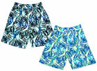 Boys Cargo Bay Floral Leaf Bermuda Microfibre Swim Board Shorts 2 to 13 Years
