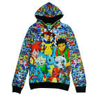 Fashion Men Women Cartoon Pokemon Pikachu Squirtle 3D Sweater Hoodie Tops