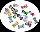 NEW LOWER PRICE! Puppy Bows ~DOG BONE pet hair bow snap clips grooming ~USA