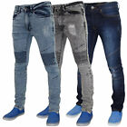 New Mens 7 Series Supper Skinny Denim Fit Biker Style Ripped Jeans Stretch Pants