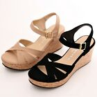 BN Strappy Ankle Strap Instant Chic Summer Casual Stylish Wedge Platform Sandals