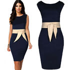 UK WOMENS SLIM SEXY BANDAGE BODYCON DRESS LADIES PARTY PENCIL DRESS SIZE 6-18
