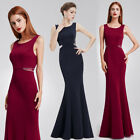 Ever pretty Women's Sexy Round Neck Long Fishtail Evening Dress 08755