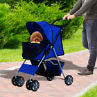 Pet Stroller Cat Dog Jogger Puppy Pushchair Travel Cart Carrier Walk 4 Wheels <br/> Order before 1pm Mon-Fri for £1.99 next day delivery