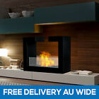 Designer Indoor Bio Ethanol Home Fireplace Decoration W/ Tempered Safety Glass