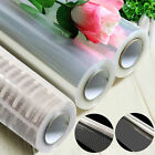 20/100m x 80cm Clear Cellophane Roll White Dot Film Florist Gift Wrap Hamper New